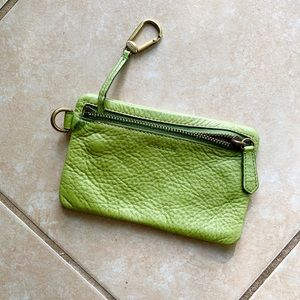 Coach Lime Card Case Wallet